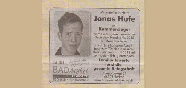 Kammersieger Jonas Hufe