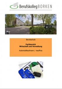 Flyer Berufsschule Automobilkaufmann/ -kauffrau