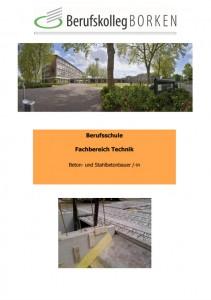 Flyer Berufsschule Technik - Beton- und Stahlbetonbauer