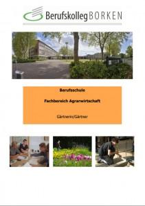 Flyer Berufsschule Agrarwirtschaft - Gärtner/in