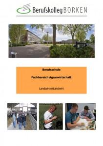 Flyer Berufsschule Agrarwirtschaft - Landwirt/in