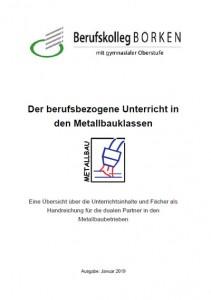 Flyer Berufsschule Metall & Elektro - Metallbauer